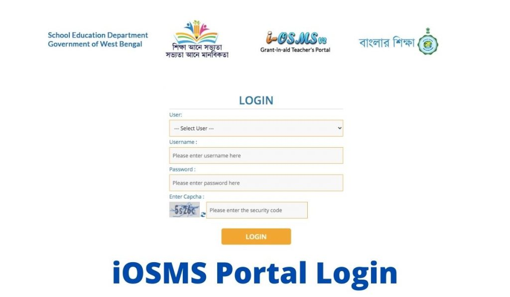 iOSMS Portal Login WB Teacher's Portal Download Payslip at osms.wbsed.gov.in